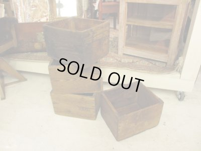 画像1: 古い 小ぶりな木箱 Wood box