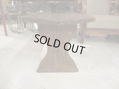 画像3: レトロ 古い木製ベンチ 椅子 チャーチチェア