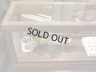 画像2: レトロ 楢材 5面ガラスショーケース ガラス棚 サイドボード