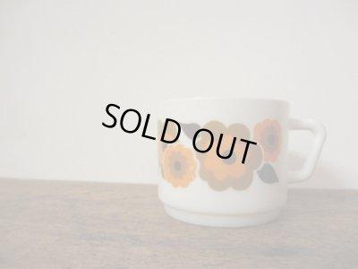 画像1: フランス arcopalアルコパル社 オレンジのお花のカップ