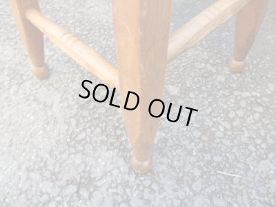 画像5: 木味良い 素敵な脚のスツール 椅子 レトロ アンティーク
