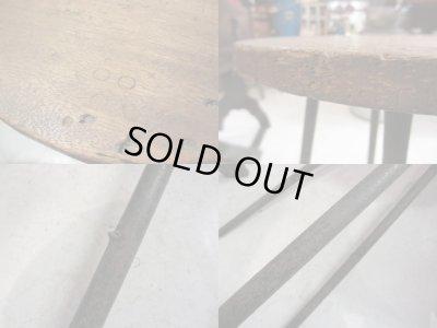画像5: アイアンレッグスツール 鉄脚 椅子 花台