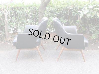 画像4: ヴィンテージ ラウンジチェア アームチェア 椅子 ソファ 黒