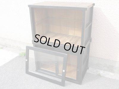 画像2: 昭和レトロ ガラスキャビネット 飾り棚 ショーケース  時代家具