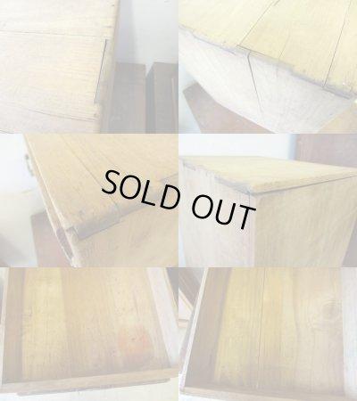 画像5: 昭和レトロ 古い白木の5杯小引出し 書類棚