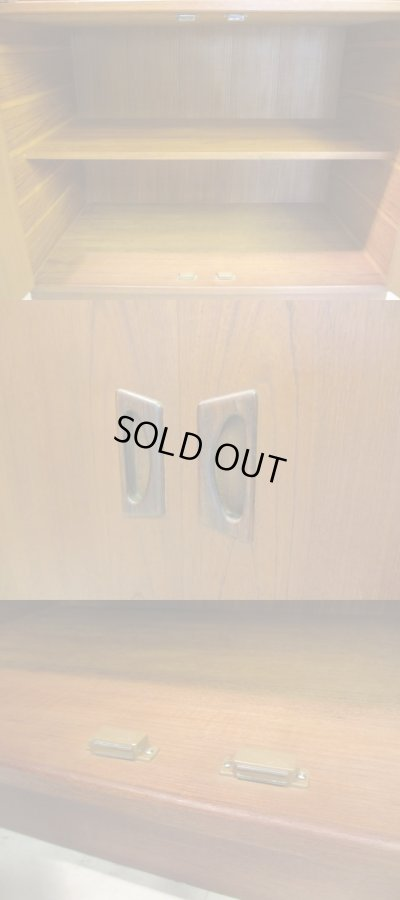画像4: 北欧デザイン チーク材 食器棚 カップボード
