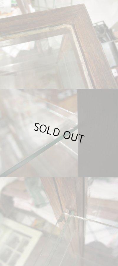 画像4: 昭和レトロ 5面ガラスショーケース 楢材