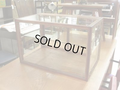 画像1: 昭和レトロ 木製5面ガラスショーケース 飾り棚