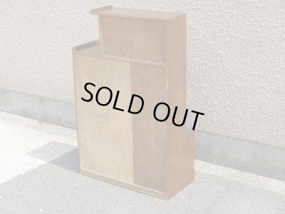 画像3: 昭和レトロ ガラス本箱 飾り棚 食器棚 楢材アンティーク