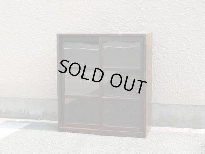 画像1: 昭和レトロ ガラス棚 食器棚