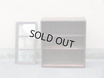 画像2: 昭和レトロ ガラス棚 食器棚