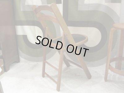 画像2: レトロ 木製フォールディングチェア 折畳み椅子 ビンテージ(2)
