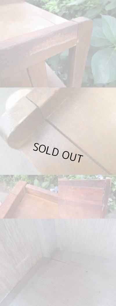 画像5: レトロ 縦格子の扉付本棚 ブックシェルフ
