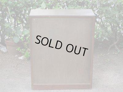 画像3: 昭和レトロ ラワン無垢材のガラス本箱 食器棚