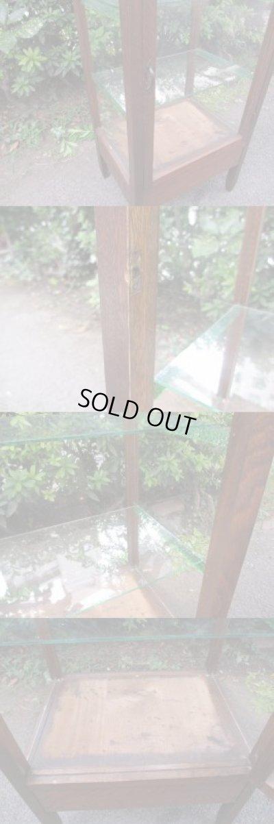 画像5: 昭和レトロ 小ぶりな縦長5面ガラスショーケース キャビネット