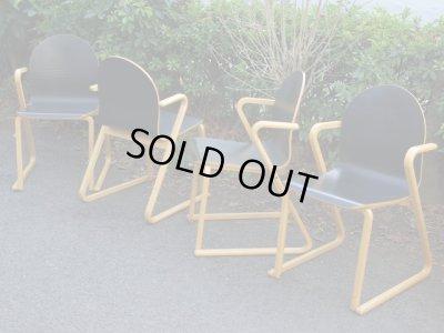 画像1: コクヨ 木製スタッキングチェア 椅子