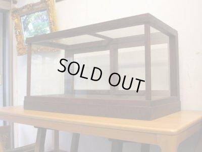 画像1: 昭和レトロ 5面ガラスショーケース 楢材