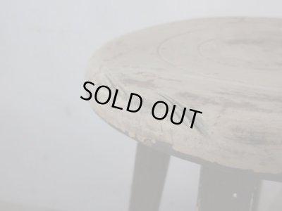 画像1: アンティーク 塗装の剥げたスツール 丸椅子