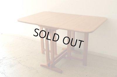 画像1: ヴィンテージ パイン材のバタフライテーブル