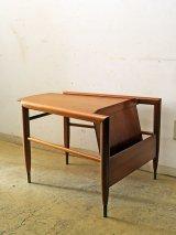 ヴィンテージ BrownSaltman社製 マガジンラック付きテーブル wedge table