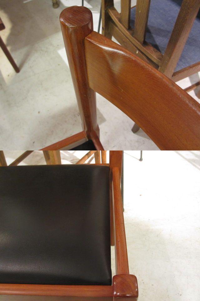 デンマーク製 チーク材のダイニングチェア 椅子 ビンテージ
