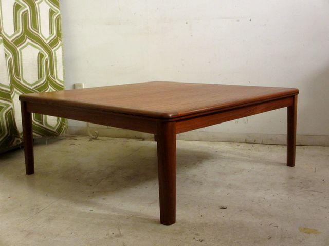 画像1: 北欧ヴィンテージ チーク材の座卓 ローテーブル
