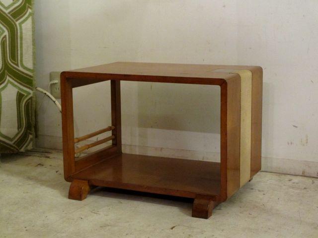 画像1: ヴィンテージ 明るい木味のサイドテーブル