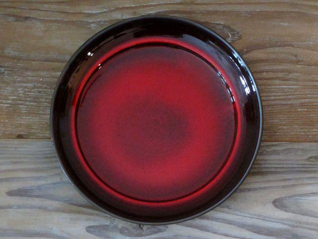 画像1: ヴィンテージ ドイツ製の赤い大皿