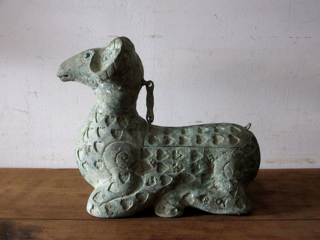 画像1: 青銅のヒツジ 青銅臥羊香薰 香炉