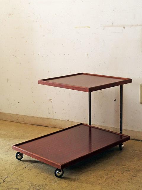 画像1: ヴィンテージ キャスター付きサイドテーブル ワゴン