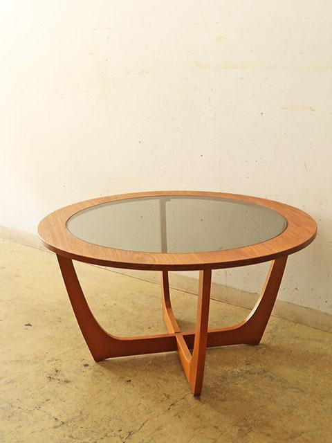 画像1: ヴィンテージ ガラストップ コーヒーテーブル